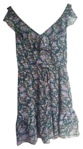 Fire short dress Black/Floral Boho on Tradesy