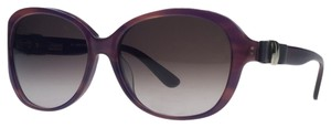Salvatore Ferragamo Salvatore Ferragamo Striped Purple Oval Sunglasses