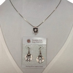 Shablool Silver Jewelry Design Sterling Silver & Pearls Israel Made Set
