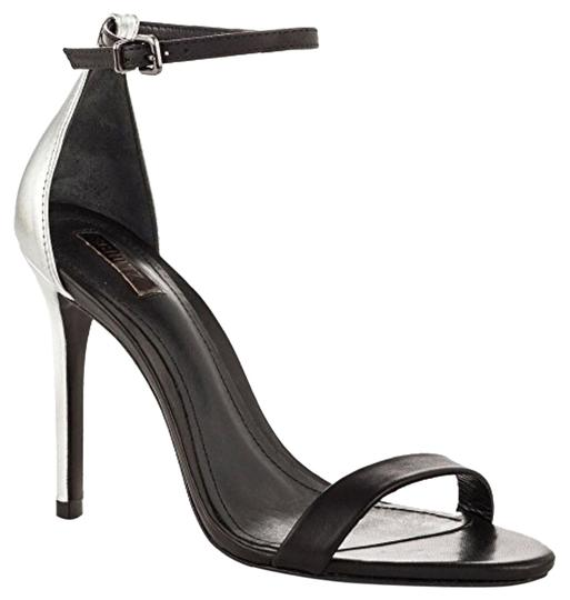SCHUTZ Black/Silver Sandals