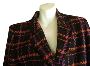 Lillie Rubin LILLIE RUBIN 80S WOOL Two Piece SUIT Size 8 Skirt & Jacket Plaid NEW OLD STOCK $1800 VINTAGE.