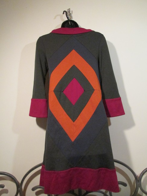 Diane von Furstenberg short dress Green with Orange and Red Geometric 3 Quarter Sleeves Sweater on Tradesy
