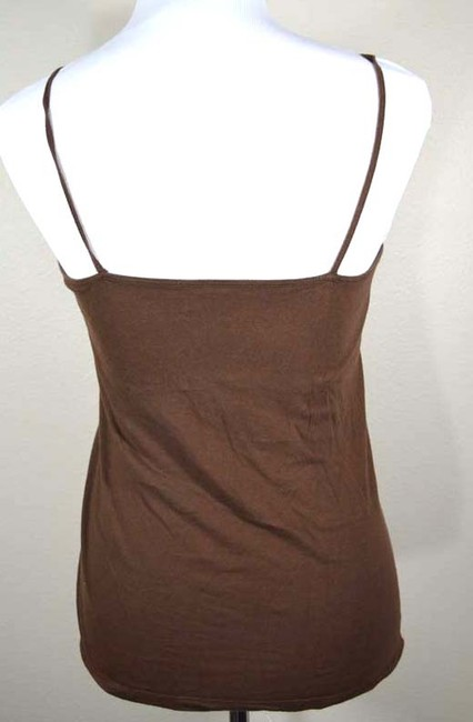 Aéropostale Beaded Beaded Trim V-neck Camisole Top brown
