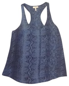 Joie Top Blue Snake Print