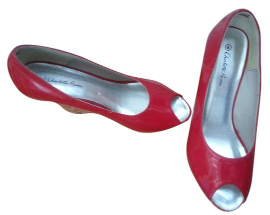 Charlotte Russe candy apple red Wedges