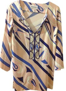 Emilio Pucci Made In Italy Marked Size 8 But Fits Like 4-6 100% Viscose/rayon Tunic