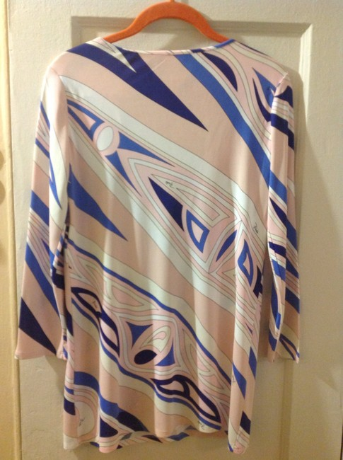 Emilio Pucci Made In Italy Marked Size 8 But Fits Like 4-6 Viscose/Rayon Tunic