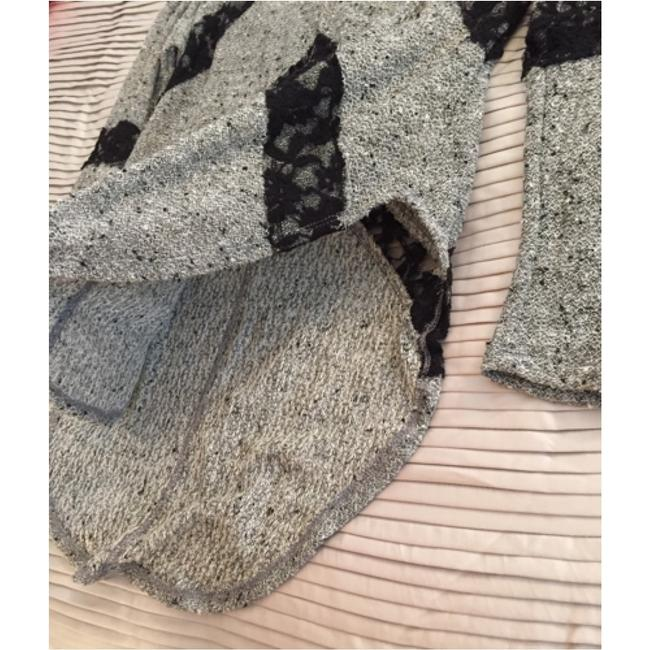 Free People Lace Lace Black And Grey Black And Gray Black And Grey Gray And Black Sweater