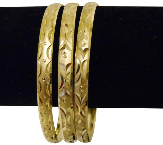 Other Diamond Cut Textured Pattern Slip-on Bangle 3pc Set Size M/L Image 0