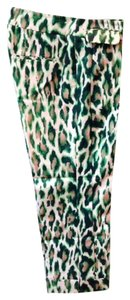 Christian Dior Vintage Capris Green Animal Print