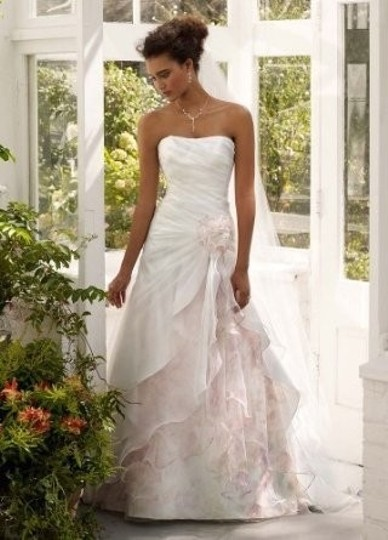 Preload https://item4.tradesy.com/images/david-s-bridal-white-organza-split-front-gown-with-floral-print-inset-s-feminine-wedding-dress-size--51393-0-0.jpg?width=440&height=440