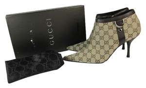 Gucci Gg Logo Monogram Leather Boots