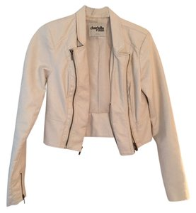 Charlotte Russe White Leather Jacket