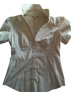 Banana Republic Spring Fall Summer Casual Button Down Shirt beige