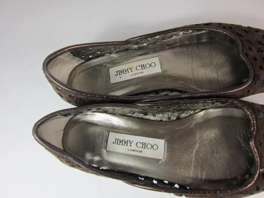 Jimmy Choo Leather Brown Flats
