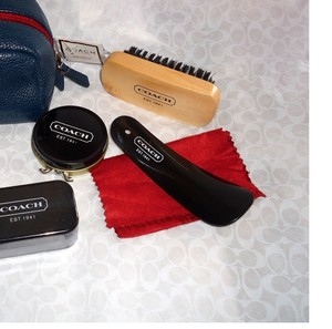 Coach LAST One and In original packaging Perfect Gift for Him or Her Leather Travel Shoe Shine Kit