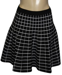 Carmen Marc Valvo Mini Skirt BLACK/BLEACH WHITE