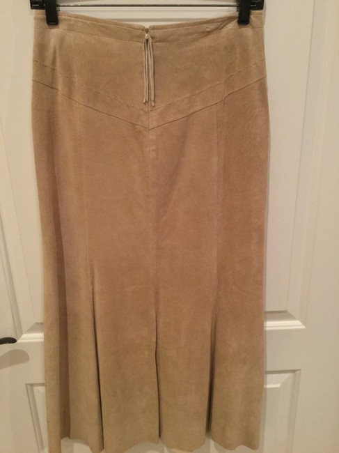 Chico's Suede Skirt Buff