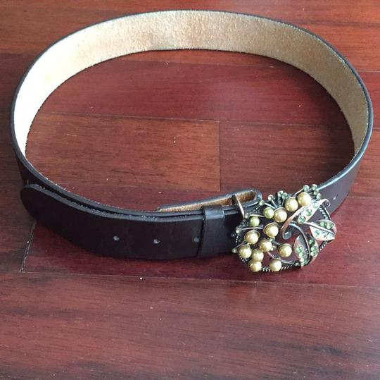 Leather Belt with Vintage Buckle