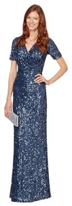 Jenny Packham Sequin Cap Sleeve Evening Full Length V-neck Dryclean Only Maxi Dress