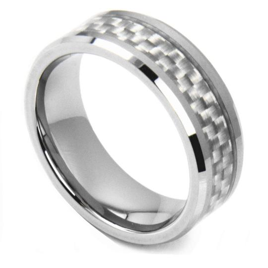 Preload https://item1.tradesy.com/images/silver-tungsten-carbide-wfiber-inlay-free-shipping-men-s-wedding-band-5140825-0-0.jpg?width=440&height=440