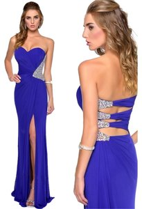 Milano Formals Prom Strapless Cutouts Unique Back Dress