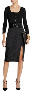 Altuzarra Python Jacquard Pencil Skirt Black