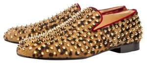 Christian Louboutin Rollerboy Leopard wih gold spikes Flats