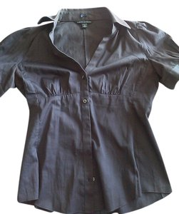 Banana Republic Spring Fall Winter Summer Button Down Shirt dark gray