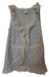 Hype Sleeveless Dauphine New Anthropologie Small Top Ecru