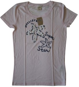Hollister Party Summer Beach T Shirt Light pink
