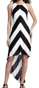 Black and white Maxi Dress by Ella Moss Hi Lo Jersey Chevron