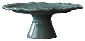 Blessings unlimited Teal cake plate