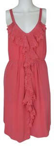 Rebecca Taylor short dress Pink Tank Sleeveless Hi Lo on Tradesy