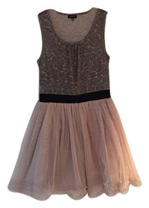 Miss Sixty short dress Gray and beige on Tradesy