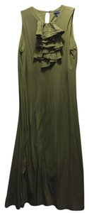 Olive Marsh Maxi Dress by Ralph Lauren Sport Ruffled Sporty Maxi Cotton Swing Sleeveless Ruffle