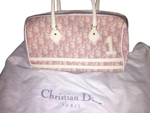 Dior Tote in White/ Pink