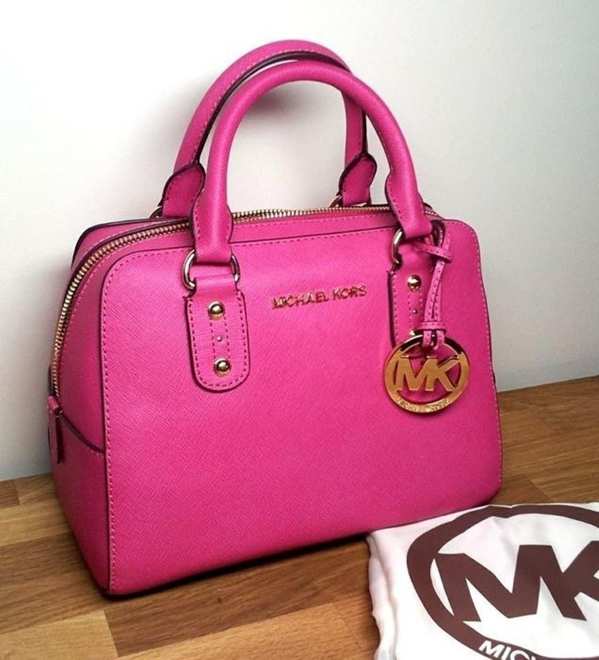pink michael kors pursesmichael kors satchel in zinnia pink 27 off. Black Bedroom Furniture Sets. Home Design Ideas