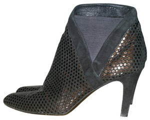 Stuart Weitzman Vintage Fish Scale Vintage Ankle Vintage Metallic Leather Black & Bronze Boots