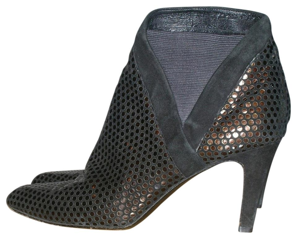 60a8a780485d Stuart Weitzman Black   Bronze Vintage Metallic Sequin Leather Ankle Boots  Booties