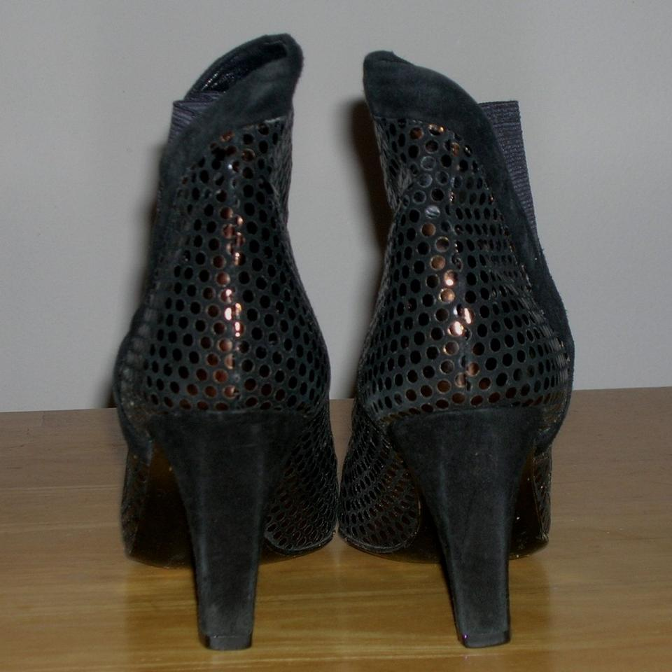 Stuart weitzman black bronze vintage metallic sequin for Fish scale boots