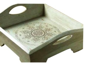 Blessings unlimited Psalms square tray teal