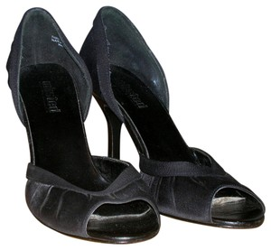 Kenneth Cole Satin Satin Tie Formal Black Pumps