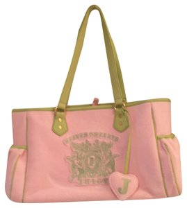 Juicy Couture Baby Pink w/ Light Green Trim Diaper Bag