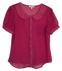 dELiA*s Button Down Shirt Pink and white