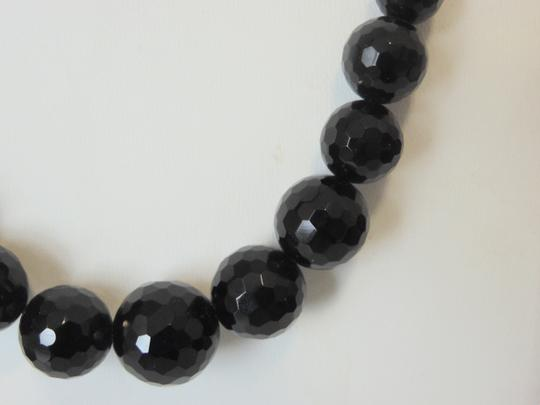 Colleen Lopez Colleen Lopez 16 Inch Black Onyx Faceted Necklace