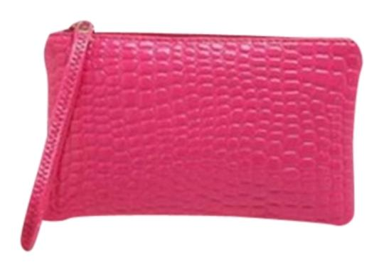 Other Pu Leather Zippered Wallet Purse Wristlet in Hot Pink