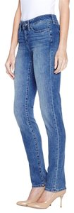 Yummie Women Ladies Misses Girls Mid Straight Leg Jeans-Medium Wash