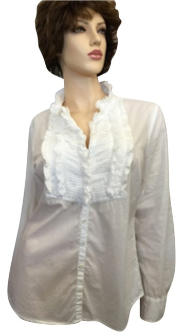Preload https://item5.tradesy.com/images/jcrew-white-ruffle-tux-button-down-top-size-8-m-5143699-0-0.jpg?width=400&height=650