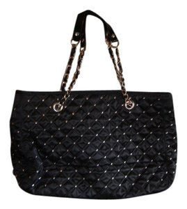 White House | Black Market Quilted Studded Tote in Black